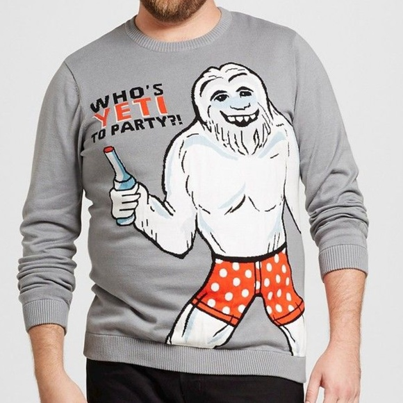 Other - ↓$24 Men's 2X Whos YETI to party Sweater Christmas